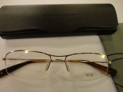 Oliver Peoples Fosse CG Rx Eyewear 52-17-140 Light Gold Frame, New!