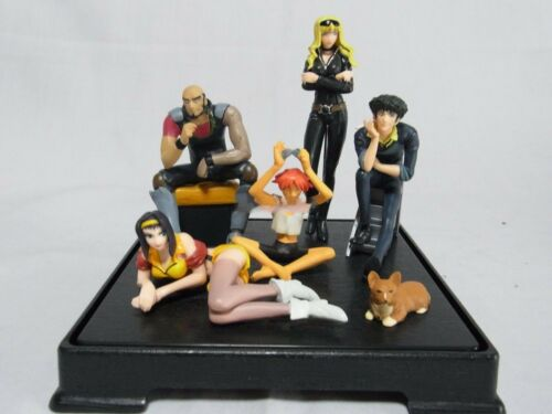 SUNRISE Cowboy Bebop Prize Figures ALL 6 Charaters Completed Set Original Stand