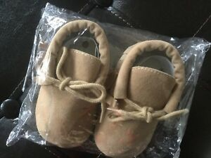 Baby's suede shoes