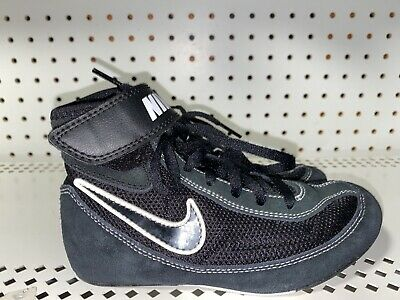 Nike Speedsweep VII Boys Youth Wrestling Shoes Size 1Y Black Gray White