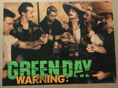 GREEN DAY Rare 2000 PROMO POSTER for Warning CD USA 24x18 NEVER DISPLAYED