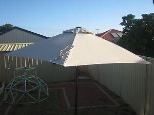 Garden Umbrella, Base and Cover -  2.5m, cream, aluminium frame Padbury Joondalup Area Preview
