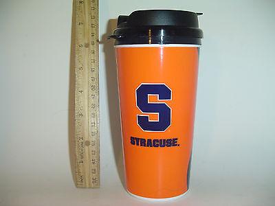 Syracuse University Su Orange Blue Coffee Travel Mug Ncaa Cuse Gift Otto On Side