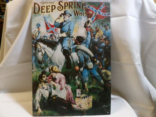 DEEP SPRING WHISKEY METAL SIGN - GREAT COLOR