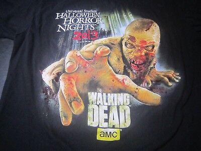 Halloween Horror Nights Walking Dead Shirt (2013 Halloween Horror Nights HHN Walking Dead T-Shirt Size Large  Universal   B8)