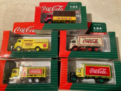 (5) *NEW* 1993 Coca Cola Die Cast Metal 1:64 Scale Vintage Collectible Trucks