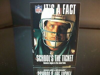 Dan Marino Artex THINK ABOUT IT 1994 Card #2 SCHOOL'S THE TICKET Miami Dolphins