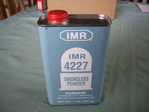 IMR 4227 SMOKELESS  POWDER CAN - EMPTY