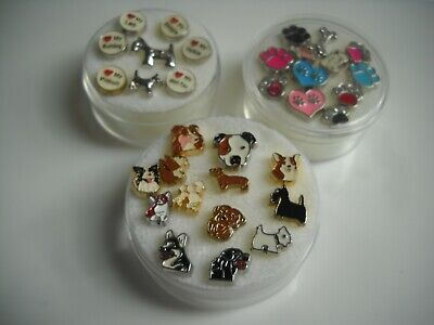 Floating Charms for Glass Locket, Dogs, Paws, Bones, Free shipping on 4 or more](Floating Charms For Lockets)