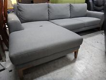 DOMENICO GREY 3S w/ CHAISE from Nick Scali - SOFA CLEARANCE Richmond Yarra Area Preview
