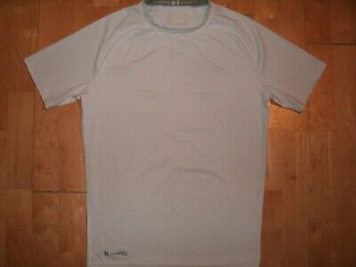 UNDER ARMOUR Mens HEAT GEAR White COMPRESSION XL Short Sleeve Extra Large Shirt