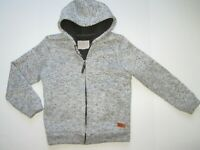 NEW Weatherproof Vintage Sherpa Hoodie Jacket Boys 7-8 Small Gray NWT
