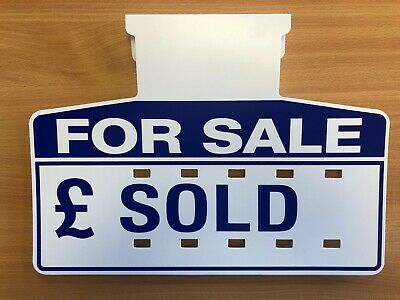 Car Sales Signs/Price Boards, PLUS Number Sheets (Blue) (10)