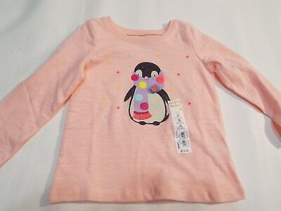 Peach toddler penguin girls shirt size 18 month by top NWT  free ship  ()