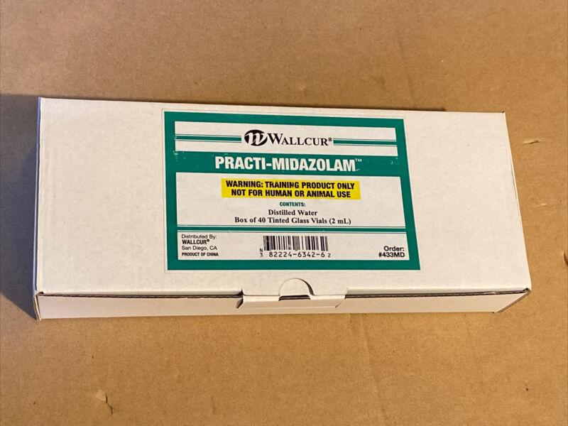 40 Vials - Wallcur Practice-Midazolam Simulation Medication Versed - Demo Dose
