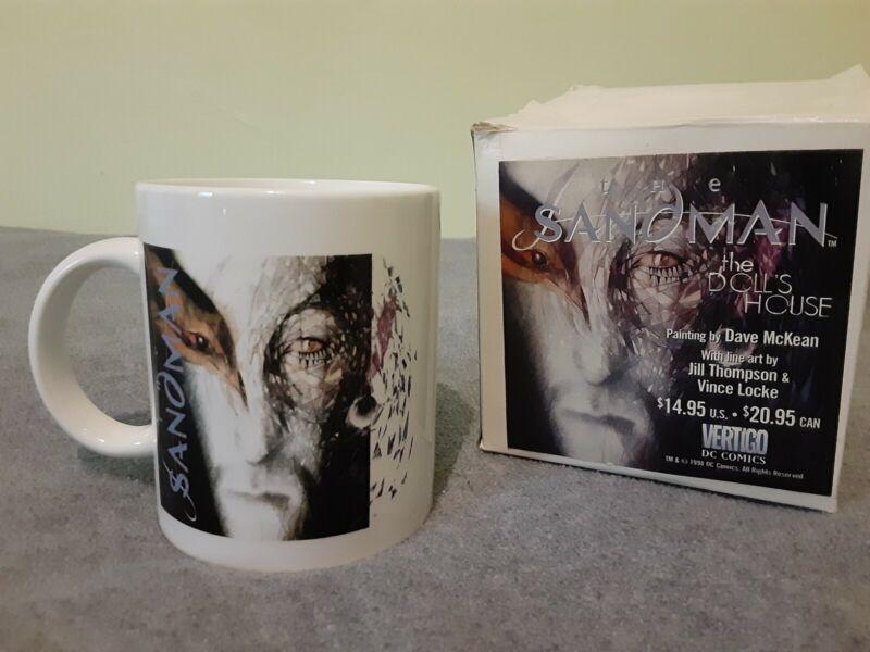 RARE Sandman mug 1998 NEW in box McKean art, unused,Gaiman DC comic/Netflix show