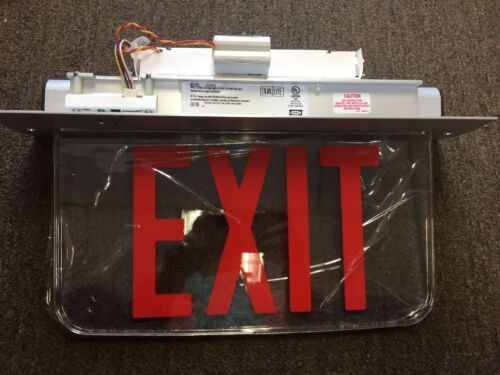 NEW Hubbell Dual Lite  LED Exit Sign LECSRXNE