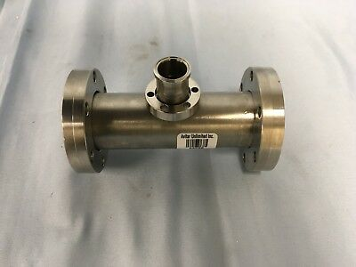 High Vacuum Reducing Tee 2.75 Od Conflat X 1.25 Conflat X 2.75 Stainless Steel