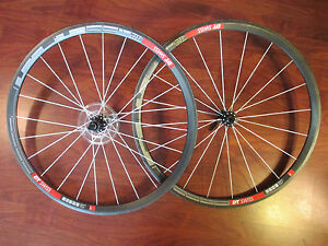 DT SWISS 32 RRC425F RRC525R CARBON TUBULARS BLADED SPOKE 700C SHIMANO WHEEL SET