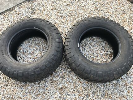 2x Preloved BF Goodrich KM2 Mud Terrain Tyres