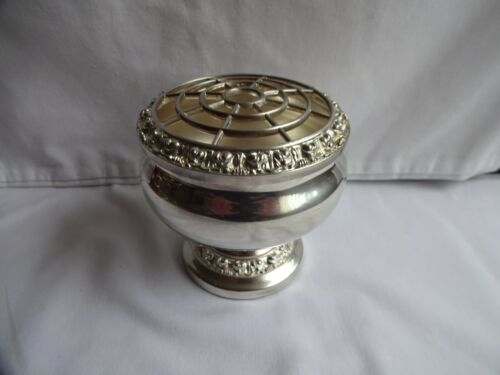 Vintage Silver Plated Ianthe Rose Bowl Height 7 cm Diameter 7.5 cm