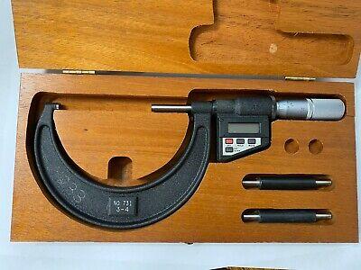 Starrett 731xflz-4 Electronic Micrometer 3-475-100mm Range .000050.001mm