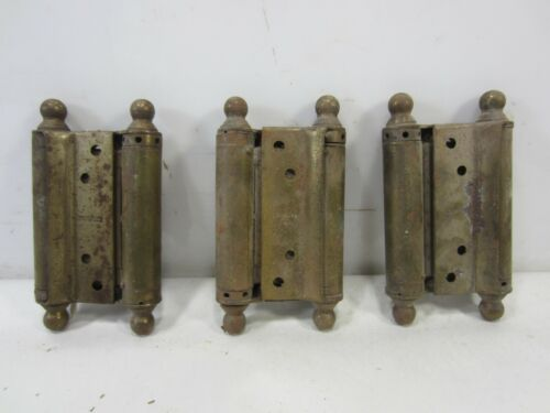 3 Vintage Bommer Double Action Hinges
