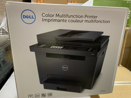 NEW Dell E525W Wireless Color LASER Printer with Scanner, Co