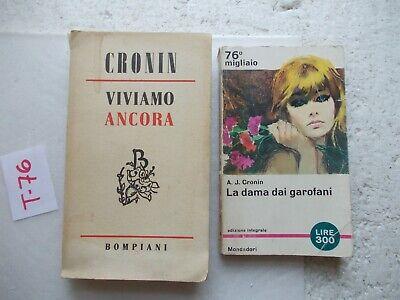 LIBRO LA DAMA DEI GAROFANI + VIVIAMO ANCORA CRONIN 2 LIBRI