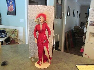 "MARILYN MONROE ""GENTLEMEN PREFER BLONDES"" 19"" Porcelain Doll"