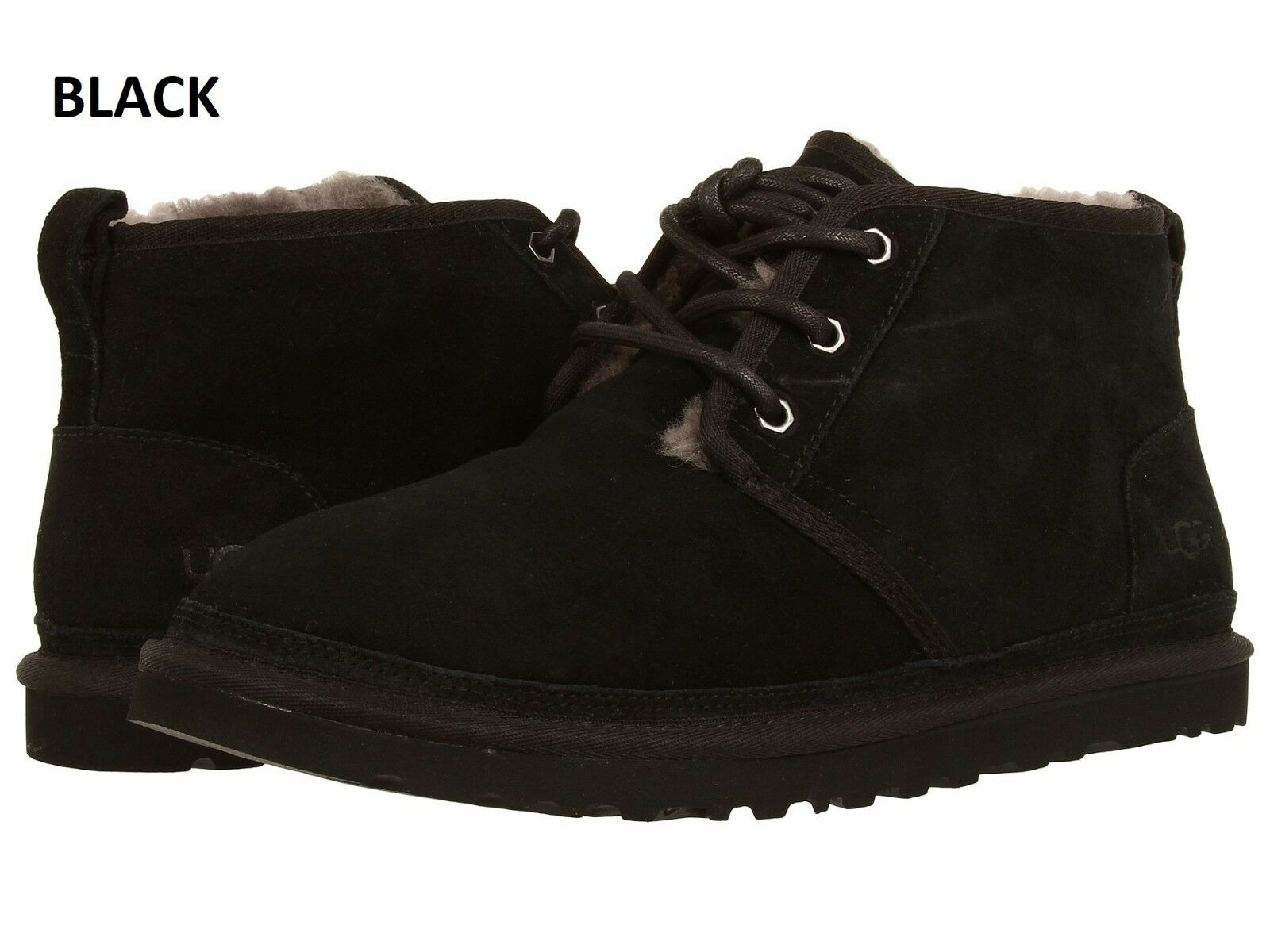 UGG Men's Neumel Chukka  Boots Casual Fashion Shoes Suede Black Chestnut 3236 1