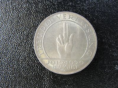 1929 A GERMANY 3 MARK WEIMAR HIGH GRADE COIN