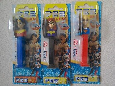PEZ DC SUPER HEROES GIRLS SET OF 3 BAT GIRL, WONDER WOMAN SUPER GIRL