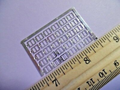 MICRO MINIATURE BUCKLES~BASIC~SILVER~DOLLHOUSE~4.5MMx6MM~SET -