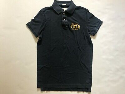 NWT Abercrombie & Fitch Men's Polo Shirt Muscle New York Navy Size M