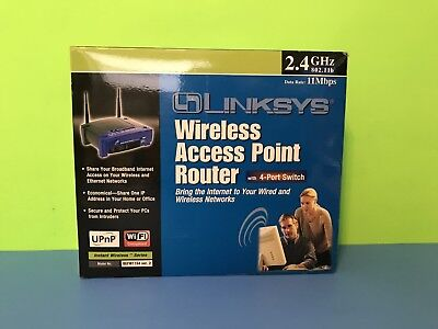 LINKSYS ACCESS POINT BEFW11S4 RUTER 11MBPS 4-PORT 10/100 WIRELESS B CABLE / DSL  Dsl Access Point