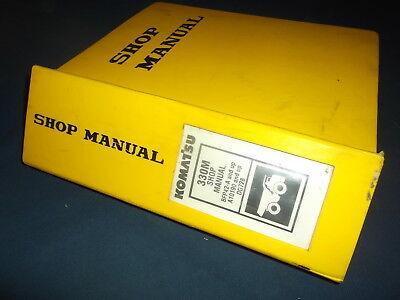 Komatsu 330m Dump Truck Service Shop Repair Book Manual Sn Bfp42