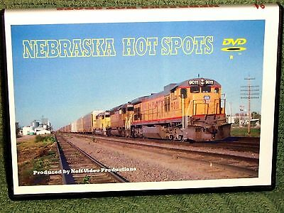"n016 TRAIN VIDEO DVD ""NEBRASKA HOT SPOTS""  1990's"