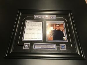 Austin Mathews Framed 4 goal game