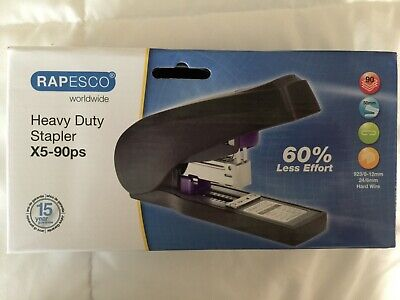 Rapesco X5-90ps Power Assisted Heavy Duty Stapler With 5 Boxes of Staples