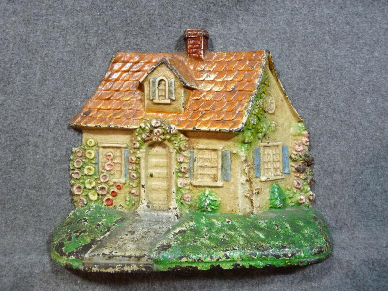 Antique HUBLEY #211 Cape Cod Cottage Cast Iron Doorstop