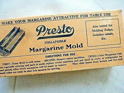 Vintage Kitchen Food Margarine Mold Original Box 1940s