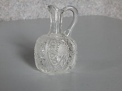 EAPG Beautiful Clear Pressed Glass Cruet circa1900s