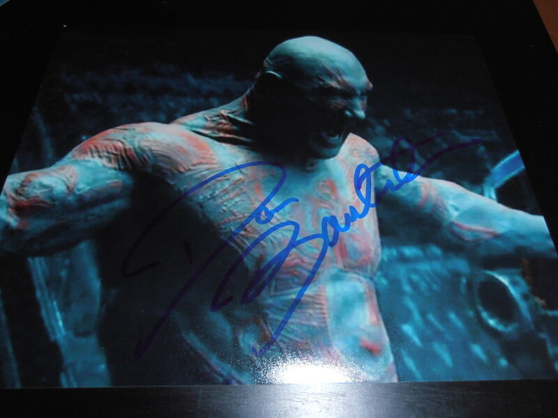 DAVE BAUTISTA SIGNED AUTOGRAPH 8x10 PHOTO GUARDIANS OF THE GALAXY 2 MARVEL X3