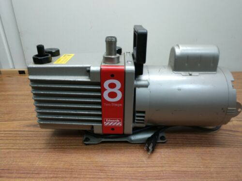 Edwards: E2M8 High Vacuum Pump Model 8 Two Stage with Franklin Motor 1/2 hp