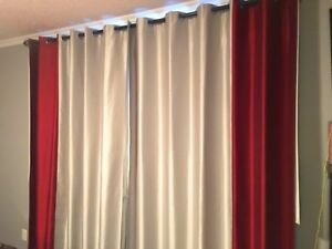 Custom double black out curtains