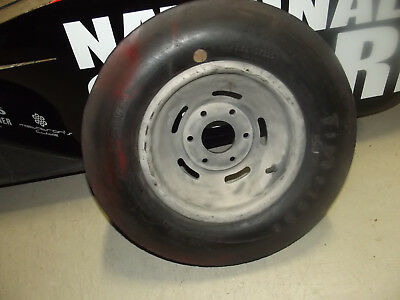 Vintage Original Midget Halibrand Magnesium Wheel KURTIS Tire Racing I, used for sale  Shipping to Canada