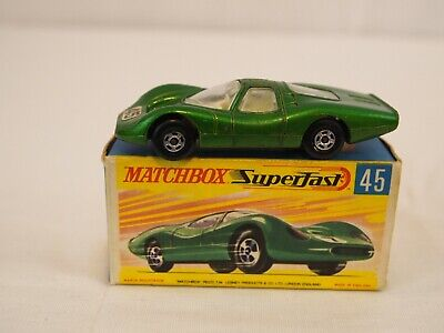 Vintage Matchbox Superfast No. 45 Ford Group 6 With Box 1969 Lesney