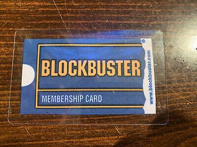 Blockbuster Membership Card Plastic Sealed  Brand New