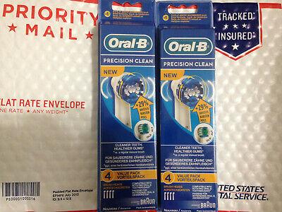 8 BRAUN ORAL B PRECISION CLEAN TOOTHBRUSH REPLACEMENT BRUSH HEADS EB20-4 Braun Oral B Replacement Brush
